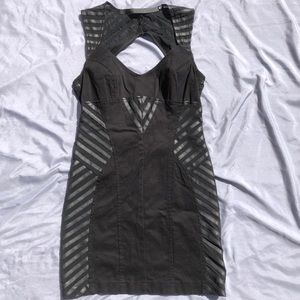 Lip Service dress with mesh and pleather